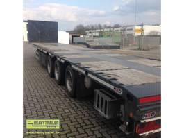 flatbed full trailer HRD 3-Achs-Mega-Tele-Plateau-Auflieger 2015