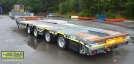 semi lowloader semi trailer Meusburger 4-Achs-Tele-Semi-Auflieger niedrig mit Radmulden