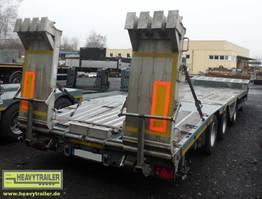 semi lowloader semi trailer Meusburger 3-Achs-Semi-Auflieger Bau
