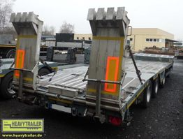 semi lowloader trailer Meusburger 3-Achs-Semi-Auflieger Bau