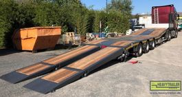 semi lowloader trailer Faymonville 3-Achs-Semi mit hydr. Ladeboden und hydr. Rampen