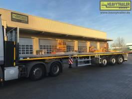 flatbed full trailer Faymonville Maxtrailer 3-Achs-Tele-Plateau zwangsgelenkt