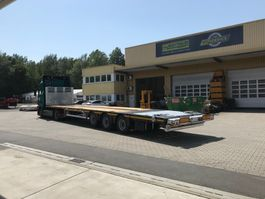 flatbed full trailer Faymonville Maxtrailer 3-Achs-Mega-Plateau mit abklappbarem Heck