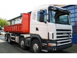 container truck Scania R124 GB 470 8x2 Kettenabroller EURO 3 Retarder 2001