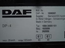 Cab part truck part DAF Instrument panel 2006