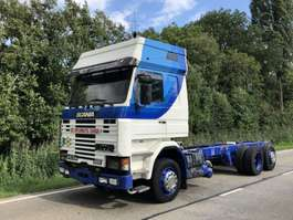 chassis cab truck Scania Scania 143M  420 topline   6x2 Retarder Airco luchtgeveerd 1995