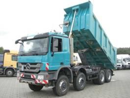 drop side truck Mercedes Benz Actros 4141 8x6 4 Achs Muldenkipper Meiller 17m³