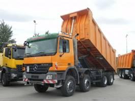 drop side truck Mercedes Benz Actros 4141 8x6 4 Achs Muldenkipper Meiller 18m³