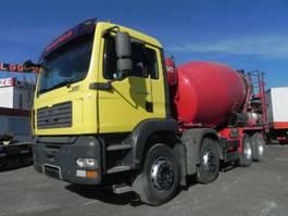 concrete batching plant MAN TG-A 32.350 8x4 BB Betonmischer Stetter 9m³