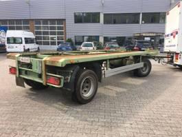 loading ramp full trailer Schmidt Abrollanhänger,guteReifen,neuer Tüv Nutzl.14350