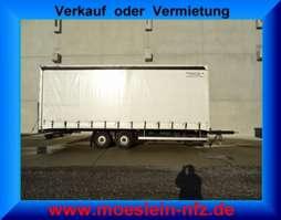 прицеп с наклонной платформой Möslein TPZ 11  Tandem Schiebeplanenanhänger 2008