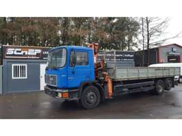 tipper truck MAN 24.272 - 6x2 - Crane + Tipper 1995