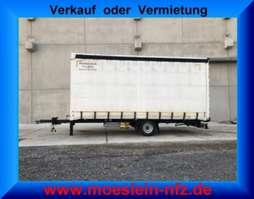прицеп с наклонной платформой Möslein PR 1 A Schwebheim  1 Achs Planenanhänger 2013