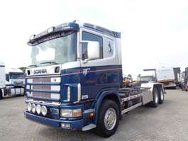 Container-LKW Scania 114G 380 + Manual + Chain system + PTO 2000