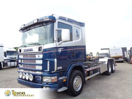 container truck Scania 114G 380 + Manual + Chain system + PTO 2000