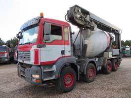 camion à bétonnière MAN TGA 35.400 8x4 Stetter 9 m3 Theam 14+4 m. 2020