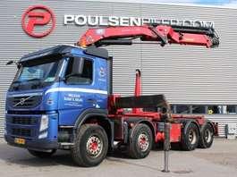 camião de contentores Volvo FM460 8x4 30 ton crane 2013