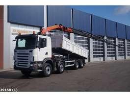 tipper truck Scania G 480 8x4 Retarder Palfinger 23 ton/meter laadkraan 2009