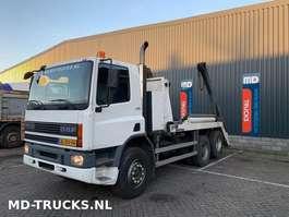 camião de contentores DAF CF 75 290 manual 6x2 steel NL 2001