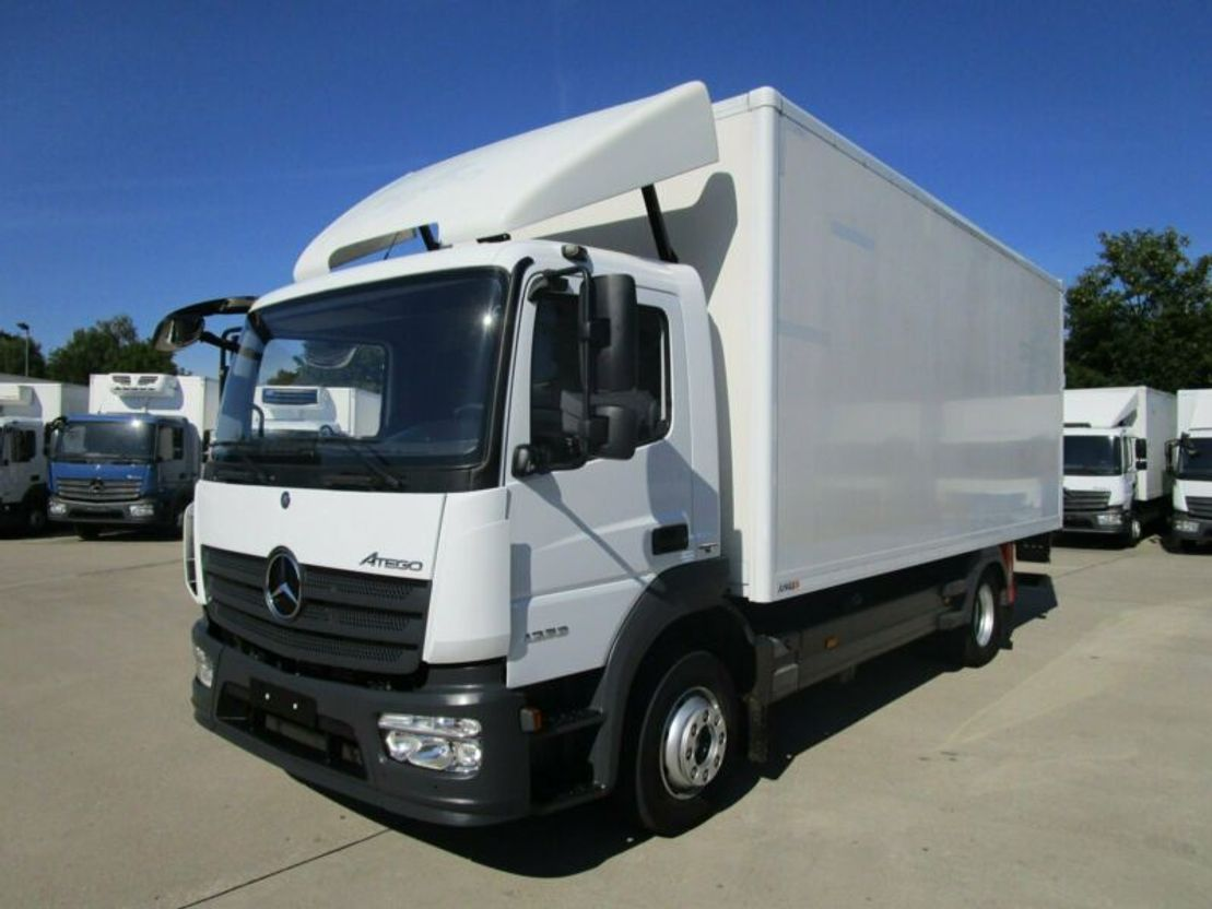 closed box truck > 7.5 t Mercedes Benz ATEGO 1223 L Koffer 6,10 m LBW BÄR 1,5 to.*E 6 2014