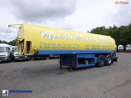 tank semi trailer semi trailer EKW Fuel tank alu 32 m3 / 5 comp + pump 1995