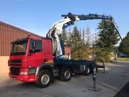 crane truck DAF CF85.430 8X4 + CRANE 65 TON FLY JIB+WINCH+HEAVY HAULING 2005