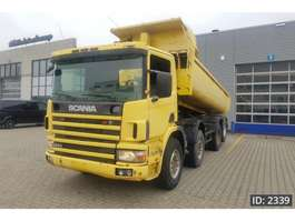 camion a cassone ribaltabile Scania 124.360 Day Cab, Euro 2, full steel suspension 1999
