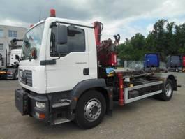 container truck MAN TGM 18.240 BB, ABROLLKIPPER MIT KRAN 2007