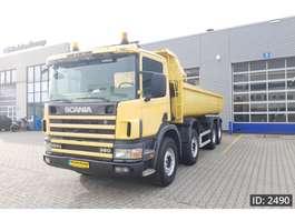 camion a cassone ribaltabile Scania 124.360 Day Cab, Euro 2, full steel suspension 1997