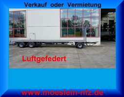 flatbed full trailer Möslein T 3 Plato 10 m  3 Achs Jumbo- Plato- Anhänger 2020