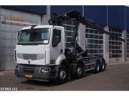 container truck Renault Premium 460 DXI 8x4 Retarder Hiab 24 ton/meter laadkraan 2014