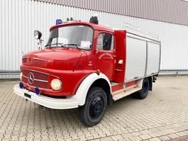 ambulance lcv Mercedes Benz LAF 911 4x4 Feuerwehr  Doppelsitzbank 1980