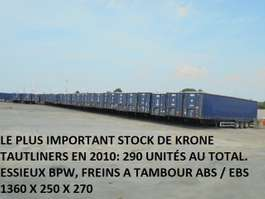 sliding curtain semi trailer Krone TUX XXL 2010