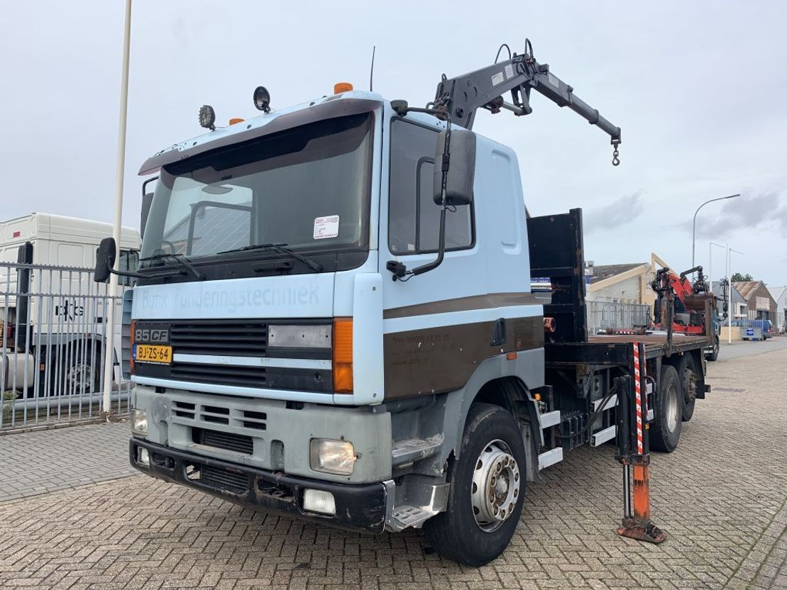Plattform-LKW DAF CF 85 .400 6x2 Manual Gearbox With Atlas 3500 Crane 1996