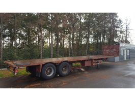 flatbed semi trailer Trailor Twistlocks 2x20´ + 1x40´ - Full Steel 1988
