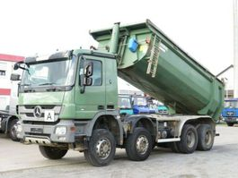 drop side truck Mercedes Benz Actros 4141 8x6 4 Achs Muldenkipper Carnehl 16m³