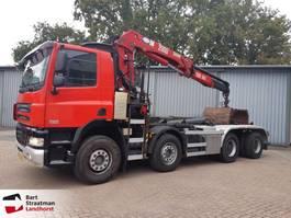container truck Ginaf X 4241 S 8x4 haakarm/kraan afstandsbediening 2008