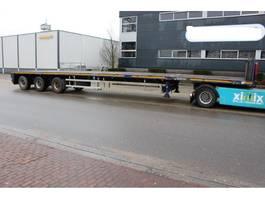flatbed semi trailer Goldhofer Vlakke dubbel (2x) uitschuifbare oplegger // 3x gestuurd 2008
