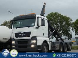 container truck MAN 35.480 TGX 8x4-4 bl tridem hyva 2012