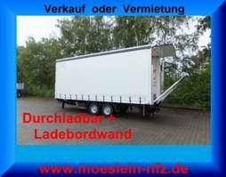 tilt trailer Möslein TPS 11 DL 7,30  Tandem Planenanhänger mit Ladebordwand 1,5 t und Durchladb 2019