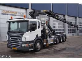 container truck Scania P 420 Euro 5 EEV Hiab 28 ton/meter laadkraan + Welvaarts 2010