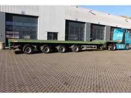 flatbed semi trailer Nooteboom 4-ass. Vlakke triple (3x) uitschuifbare oplegger // 4x gestuurd // 43 meter 2008