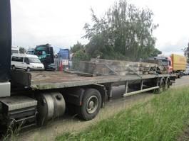 flatbed semi trailer Trouillet Oplegger lames/Steel extensible 1978