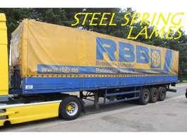 tilt semi trailer Bunge 3-axles LAMES - BACHER + RIDELLES / STEEL SPRING - ALU SIDEBOARDS 1990