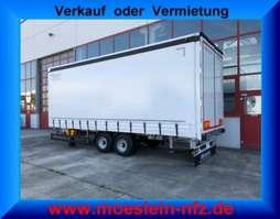 tilt trailer Möslein TPF 105 6,20 m  Tandem- Schiebeplanenanhänger, Ladungssicherungszertifikat 2019