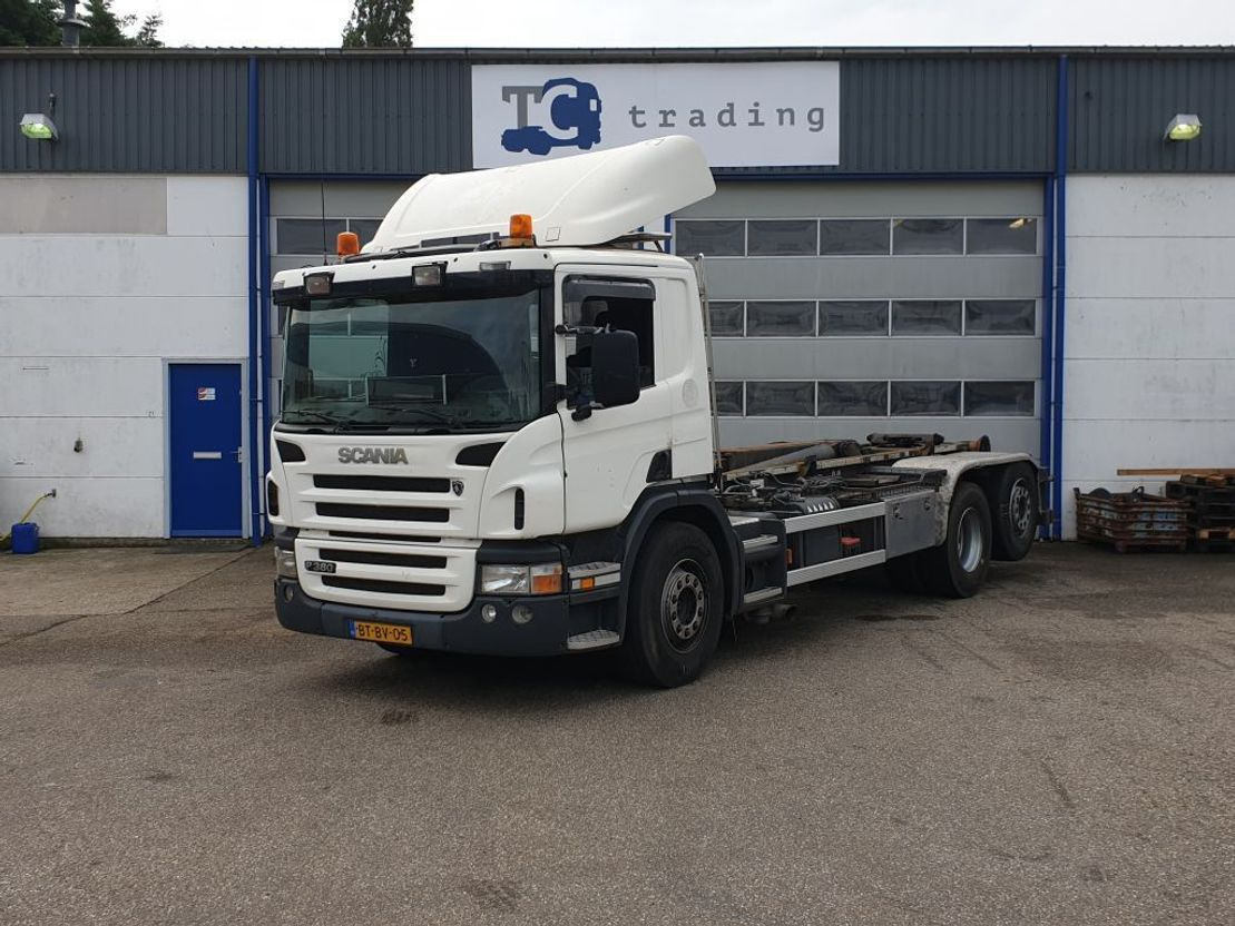container truck Scania P380 6x2 haakarmsysteem 2007