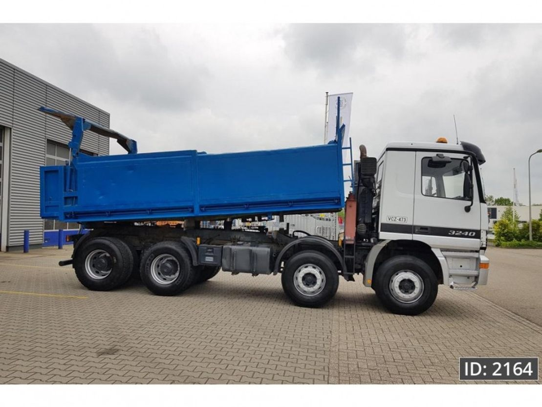 camion a cassone ribaltabile > 7.5 t Mercedes Benz Actros 3240 Day Cab, Euro 3, - Full steel / Big axles - 2000