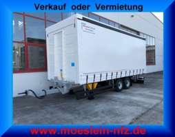 tilt trailer Möslein TPF 105  Tandem- Schiebeplanenanhänger, Ladungssicherungszertifikat-- Fahr 2019