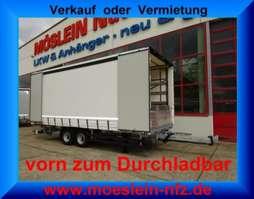 tilt trailer Möslein TPW 105 D 7,30  Tandem- Schiebeplanenanhänger, DurchladenLadungssicherungs 2019