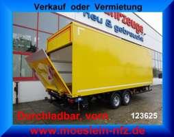 closed box trailer Möslein TK0105D-L Gelb  Tandem Koffer mit Ladebordwand 1,5 t und Durchladbar-- Neuf 2019
